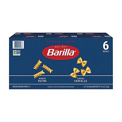 Barilla Rotini and Farfalle Pasta, 6 pk./16 oz.