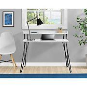 Ameriwood Haven Retro Computer Desk with Riser - White