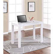 Ameriwood Home Parsons Computer Desk with Drawer - White