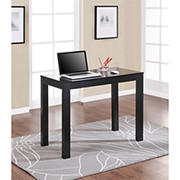 Ameriwood Home Parsons Computer Desk with Drawer - Black