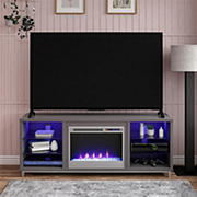 """Ameriwood Home Lumina Fireplace TV Stand for TVs up to 70"""" - Gray"""