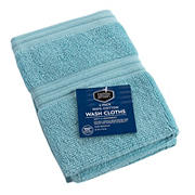 Berkley Jensen Cotton  Wash Cloths, 2 pk. - Sea Blue Solid