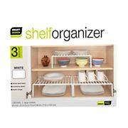 Smart Design Cabinet Storage Shelf, Large, 3 pk. - White