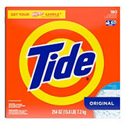 Tide Original Laundry Detergent Powder, 180 Loads.