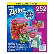 Ziploc Storage Transport Variety Pack, 252 ct.