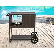 Berkley Jensen Wicker Bar Cart