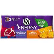 V8 Energy Pomegranate Blueberry and Orange Pineapple Variety Pack, 24 ct.