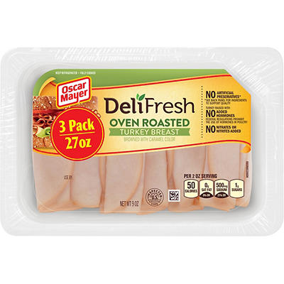 Oscar Mayer Deli Fresh Oven Roasted Turkey Breast, 3 pk./9 oz.