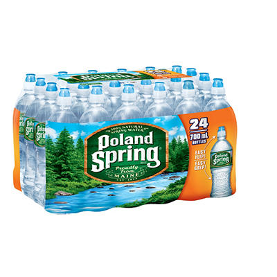 Poland Spring 100% Natural Spring Water with Sports Cap, 24 pk./23.7 o