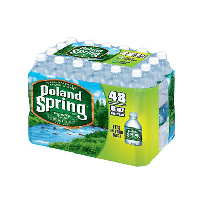 Poland Spring 100% Natural Spring Water, 48 pk./8 oz.