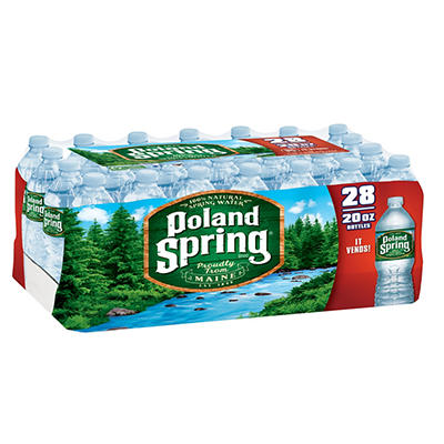 Poland Spring 100% Natural Spring Water, 28 pk./20 oz.