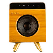 Gemini BRS-130 Bamboo Rechargeable Bluetooth Speaker with Built-in Mic