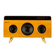 Gemini BRS-330 Bamboo Rechargeable Bluetooth Speaker with Built-in Mic