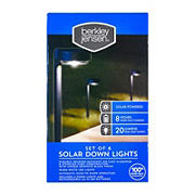 Berkeley Jensen 20-Lumen Solar Down Lights, 6 pk. - Graphite Black
