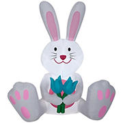 Gemmy Airblown Easter Bunny with Tulips Inflatable