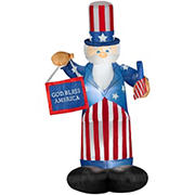Gemmy Airblown Uncle Sam with Flag Inflatable