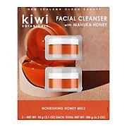 Kiwi Botanicals Nourishing Honey Melt Facial Cleanser, 2 ct.