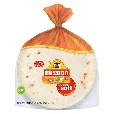 Mission Soft Taco Medium Size Flour Tortillas, 2 pk./18 ct.