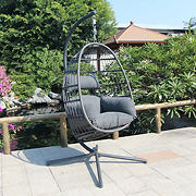 Berkley Jensen Hanging Wicker Egg Chair