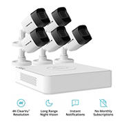 Defender 8-Channel 5-Camera 4K Wired Security System with 2TB HDD DVR