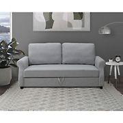 Abbyson Living Gardner Fabric Storage Sofa - Gray