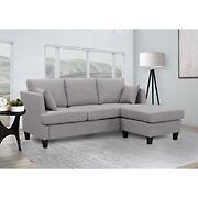 Abbyson Living Hanover Fabric Sectional - Gray