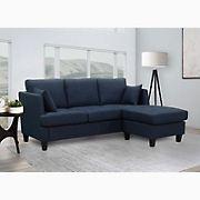 Abbyson Living Hanover Fabric Sectional - Navy Blue