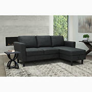 Abbyson Living Wellesley Storage Sectional - Charcoal