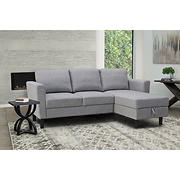 Abbyson Living Wellesley Storage Sectional - Gray