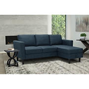Abbyson Living Wellesley Storage Sectional - Navy Blue