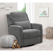 Abbyson Living Sonia Swivel Glider Recliner - Charcoal