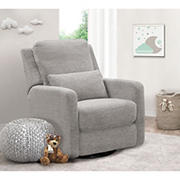 Abbyson Living Sonia Swivel Glider Recliner - Light Gray