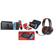 Nintendo Switch with Game Traveler Case Bundle and Ear Force Recon 50 Headset