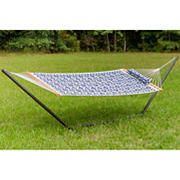 Tropic Island Medium-Sized Quilted Hammock and Stand Combo with Pillow