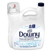 Downy Free and Gentle Liquid Fabric Conditioner, 165 oz.