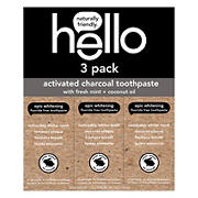 Hello Activated Charcoal Toothpaste, 3 ct.