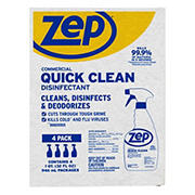 Zep Quick Clean Disinfectant Cleaner, 4 ct.