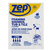 Zep Foaming Shower Tub and Tile Cleaner, 4 ct.
