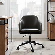 W. Trends Mid Century Modern Barrel Swivel Office Chair - Charcoal