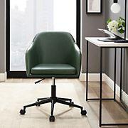 W. Trends Mid Century Modern Barrel Swivel Office Chair - Green