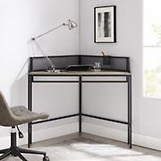 "W. Trends 42"" Urban Industrial Metal Mesh Corner Writing Desk - Gray Wash"