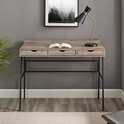 "W. Trends 42"" Modern 3 Drawer Writing Desk - Gray Wash"