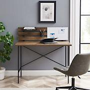 "W. Trends 42"" Modern Writing Desk with Dry Erase Board - Reclaimed Barnwood"