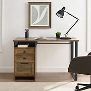 "W. Trends 48"" Urban Industrial Secretary Desk - Reclaimed Barnwood"