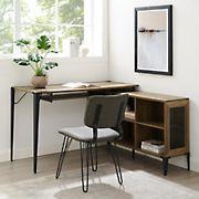 "W. Trends 52"" Urban Industrial L Computer Desk - Reclaimed Barnwood"