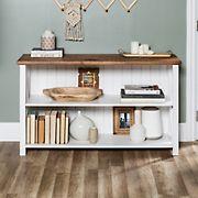 "W. Trends 52"" Farmhouse Wood Bookshelf  - White"