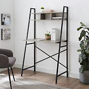 "W. Trends 56"" Urban Industrial Ladder Writing Desk - Gray Wash"