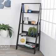 "W. Trends 55"" Farmhouse Ladder Bookshelf - Brown"