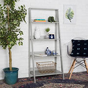 "W. Trends 55"" Farmhouse Ladder Bookshelf - Gray"