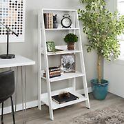 "W. Trends 55"" Farmhouse Ladder Bookshelf - White"